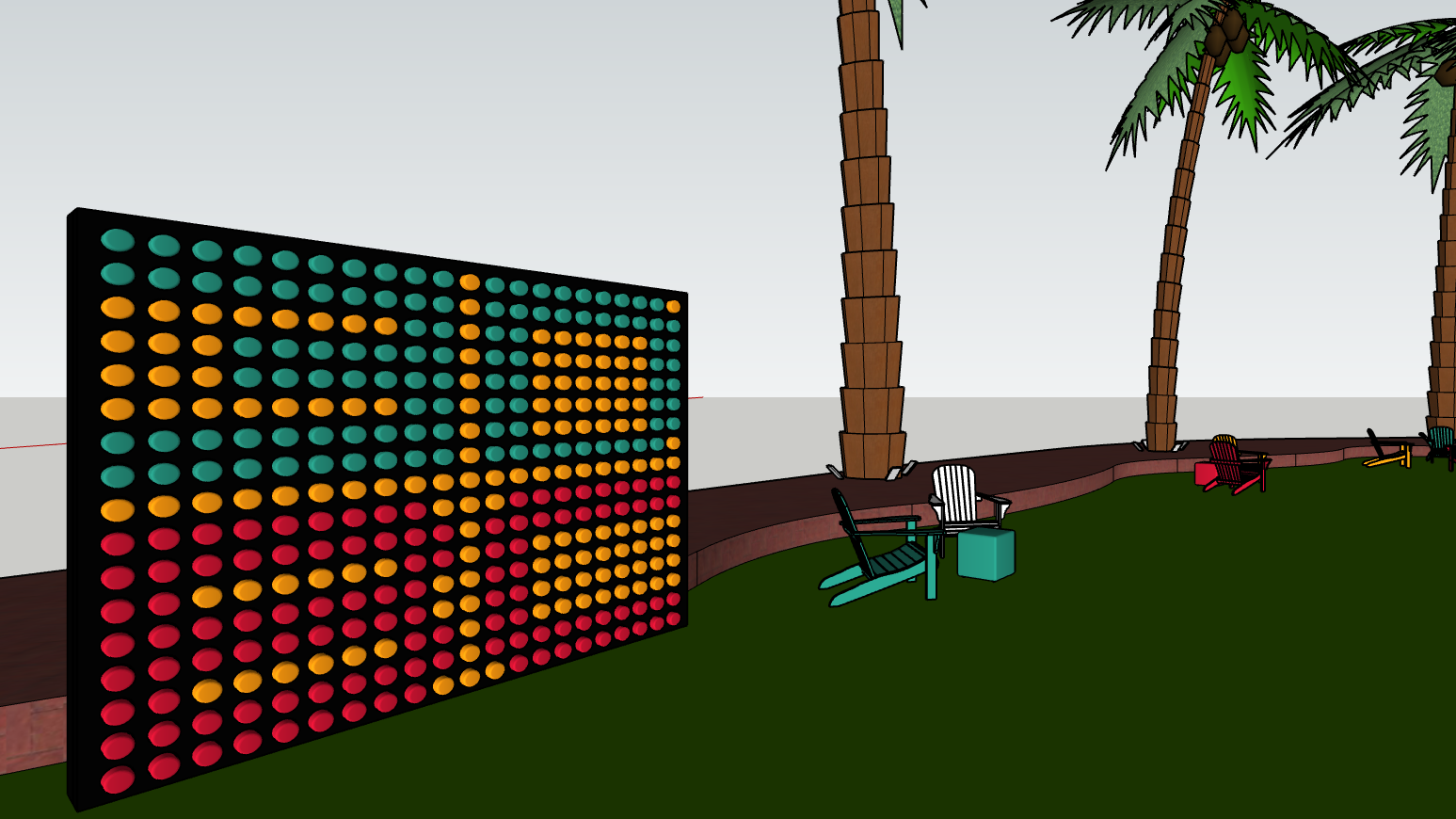 SketchUp_model_LED_Wall