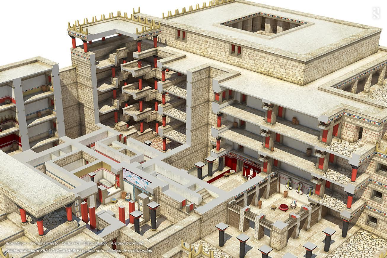 city of Knossos in 1700 BC
