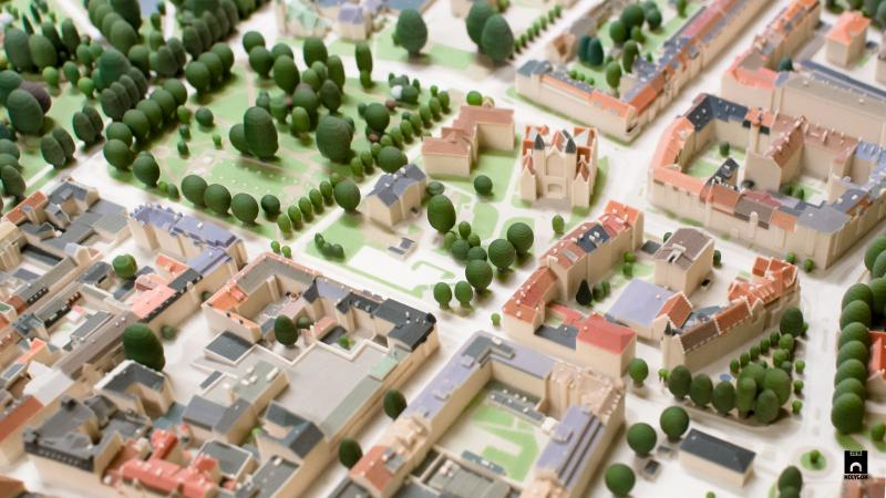 A close-up of the final 3D-printed version of Landskrona.