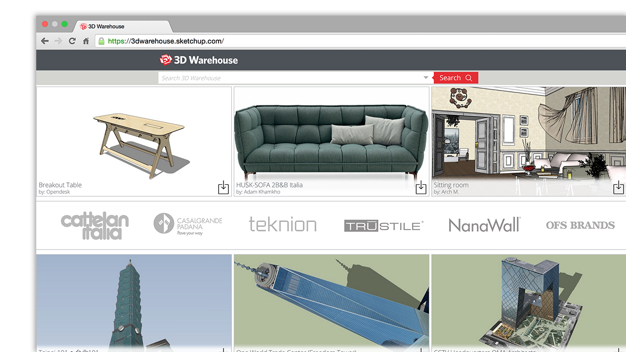 And Anyone Can Use 3D Warehouse To Store Share Models Upload Your Best Work Become A SketchUp Legend