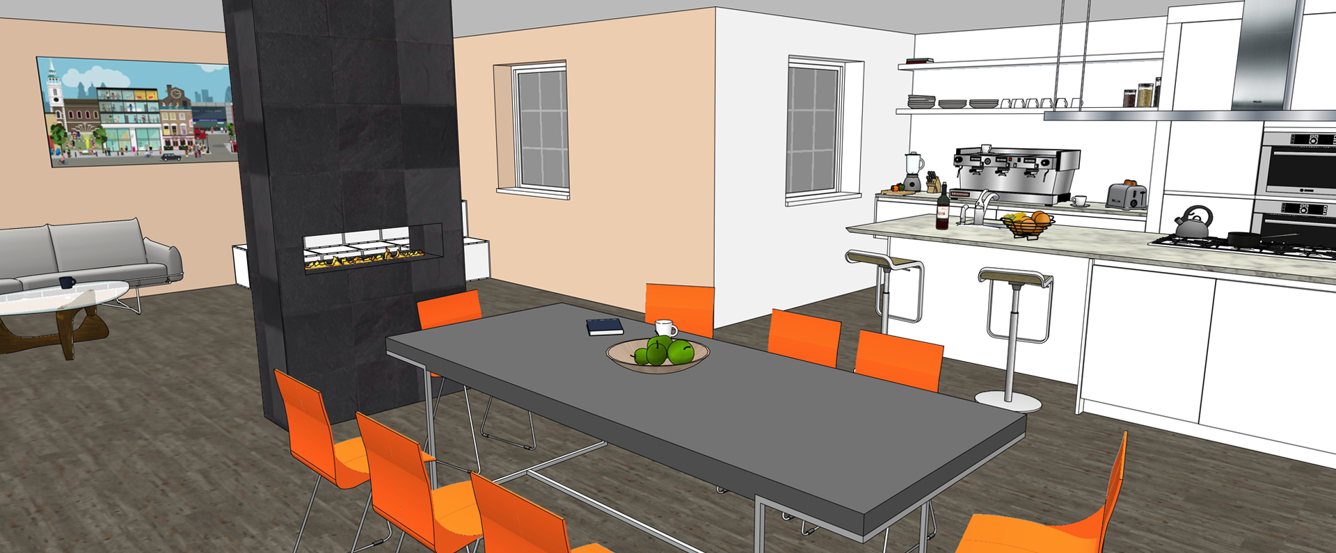 Sketchup for kitchen bath interior design sketchup for Make interior design online