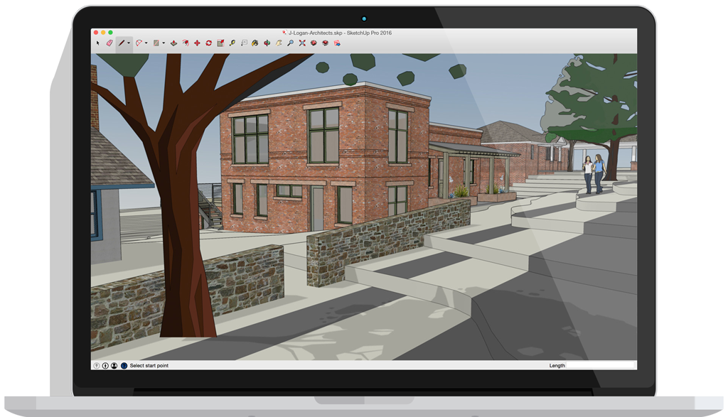Sketchup pro software create 3d model online sketchup Architecture home learning courses